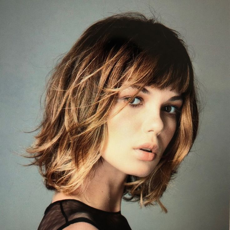a pretty short haircut with reflections!