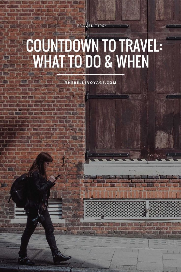 Checklist for Traveling: What to Do and When | The Belle Voyage, travel planning tips, travel checklist for women, vacation planning tips