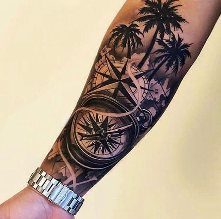 Half Sleeve Tattoos Forearm, Lion Tattoo Sleeves, Half Sleeve Tattoos For Guys, Forarm Tattoos, Full Arm Tattoos, Palm Tattoos, Hip Tattoos Women, Cool Forearm Tattoos, Best Sleeve Tattoos