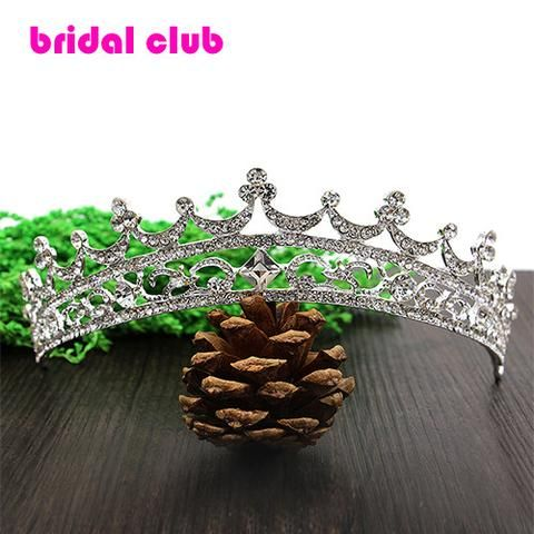 Rhinestone Crystal crowns bride hair accessories wedding tiaras for sale pageant…