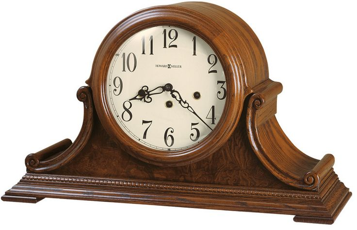 Hadley Mantel Clock. This mechanical mantel clock will add some color to any room. Key-wound, Westminster chime Kieninger movement plays 1/4, 1/2, and 3/4 chimes accordingly with full chime and strike on the hour. An industry exclusive duel-ratchet winding arbor ensures safe movement winding.  Chime silence option and durable bronze bushings
