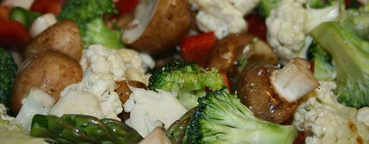 Stegte grøntsager som garniture