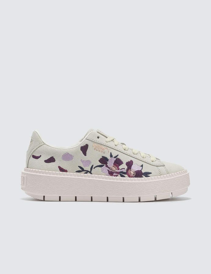 Suede Platform Trace Flowery #Trace