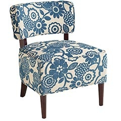 cute chair: Living Rooms, Desks Chairs, Decor Ideas, Teal Floral, Pier 1 Imports, Blue Chairs, Accent Chairs, Side Chairs, Cadman Chairs