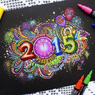 Kristina Webb @colour_me_creative Instagram photos   Websta (Webstagram) New Years drawing