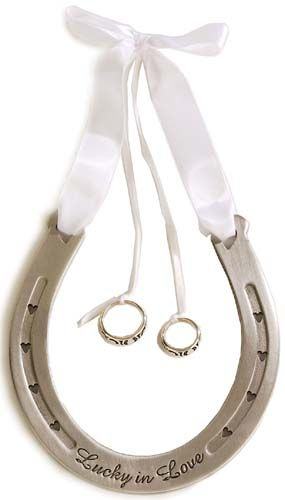 Western Wedding Lucky Ring Bearer Horseshoe
