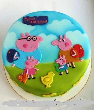 Торты Свинка Пеппа, фото 58