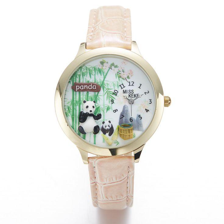 2016 Miss Keke 3d Clay Cute Chinese Bamboo Watch Panda Watches Kongfu Lovely Ladies Women Quartz Leather Wristwatches 10