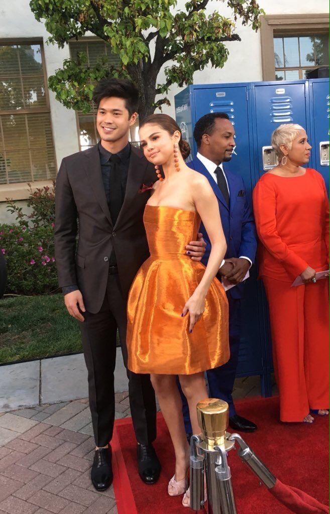 """March 30: Selena with Ross Butler at Netflix's """"13 Reasons Why"""" premiere in Los Angeles, California"""