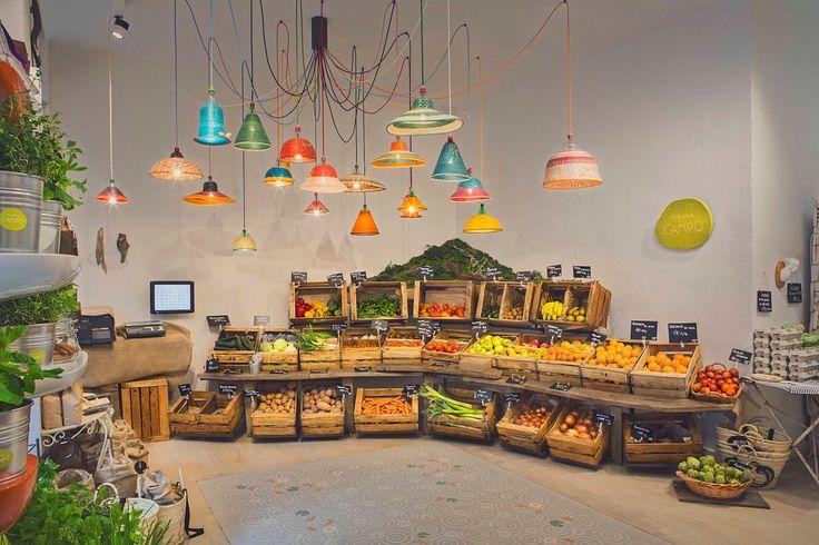 Madrid / Mama Campo : une épicerie/restaurant bio,design et colorée /