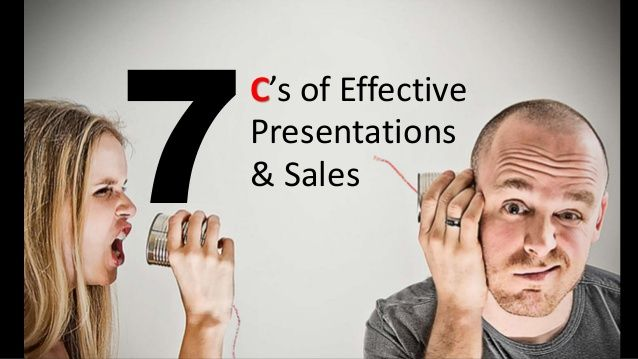 7 C's of Effective Presentations & Sales Skills