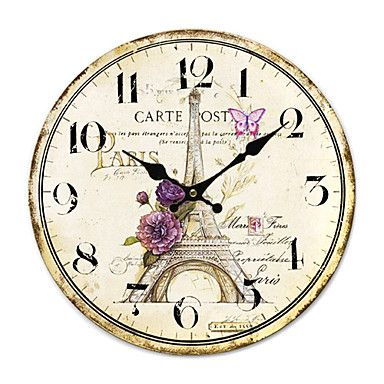 Country House Wall Clock - USD $ 32.99