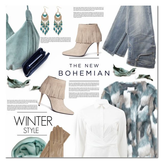 """The new Bohemian Winter Style"" by anna-anica ❤ liked on Polyvore featuring American Eagle Outfitters, MANGO, Ecote, Lili Radu, Stuart Weitzman, Lela Rose, Faliero Sarti, Winter, fringe and Bohemian"