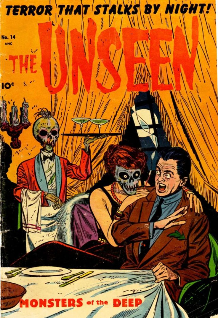 Comic Book Cover For The Unseen #14