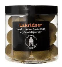 Lakrids med chokolade, fx fra Føtex