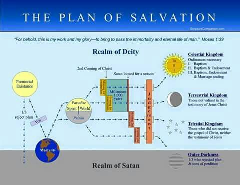 Plan of Salvation Diagram | LDS Lesson | Pinterest | Of and Plan ...