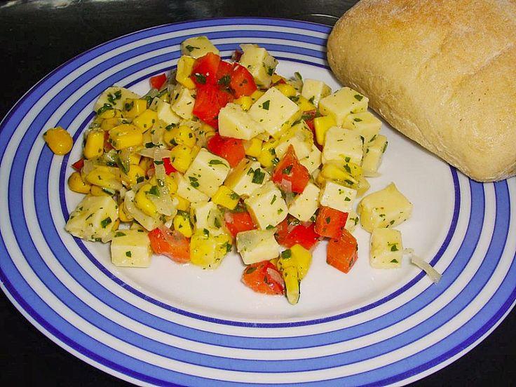 Bunter Käsesalat mit Butterkäse 3