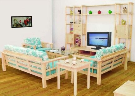 Lovely Wooden Sofa And Furniture Set Designs For Small Living Room With Coffee  Table