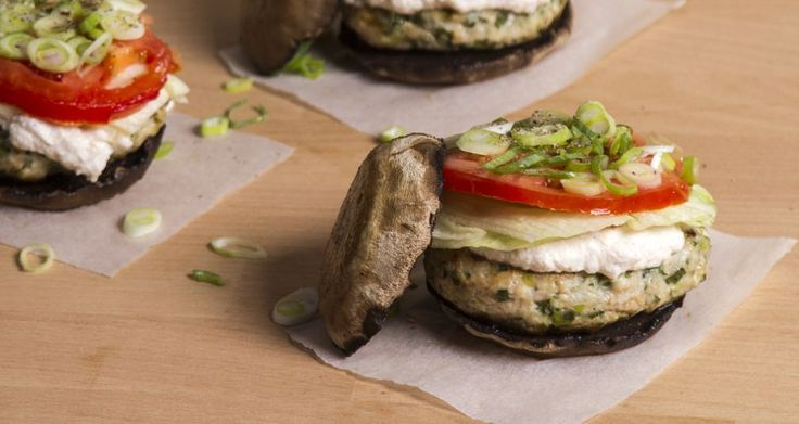 Who said healthy is boring? Portobello turkey burgers!! A super healthy gluten free recipe that is rich in protein!