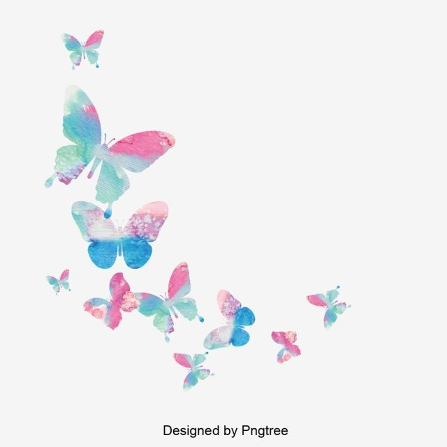 Projekt Kolorowego Materialu Motylkowego Motyl Kolorowy Zwierzat Png I Wektor Do Pobrania Za Darmo Borboletas Desenho Pintura Cor De Rosa Borboletas Coloridas