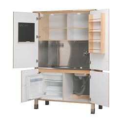 Miniküche im schrank  Die 25+ besten Ideen zu Miniküche mit kühlschrank auf Pinterest ...