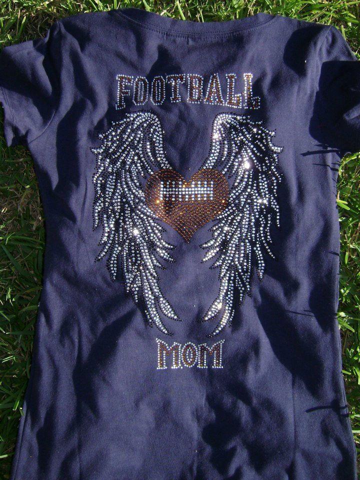 Football Mom with Wings Shirt. $25.00, via Etsy.