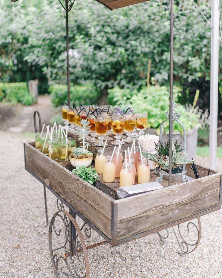 20 chariots de bar qui transformeront l'heure du cocktail et de la réception de votre mariage #Weddi