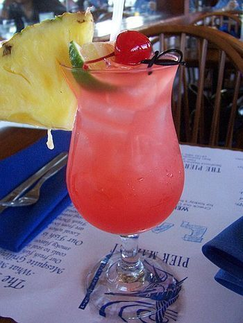 Malibu Bay Breeze: 1 1/2 oz Malibu coconut rum, 2 oz cranberry juice & 2 oz pineapple juice.