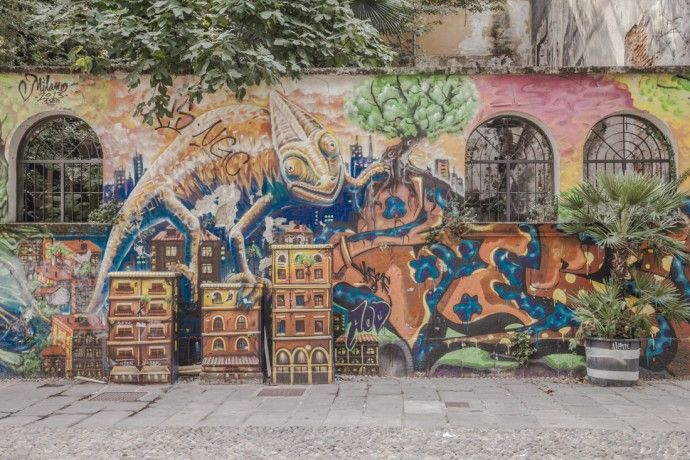 Streetart a milan - corso di porta ticinese