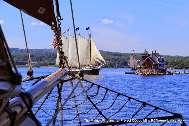 """Rockland Breakwater Lighthouse"" The Maine Windjammer"