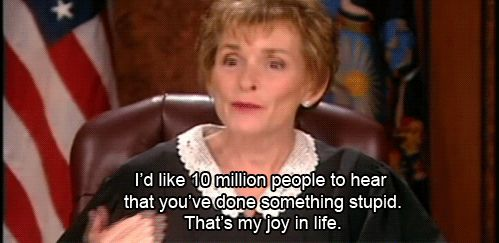 When they get called out: | 19 Times Judge Judy Had The Perfect Response To Everything