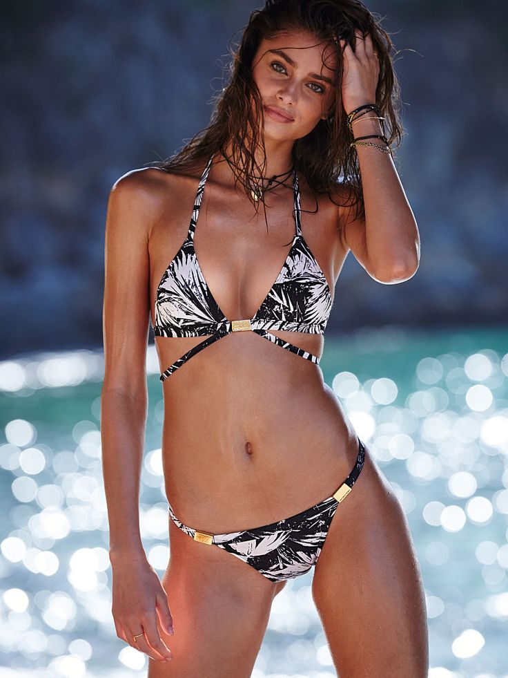 Please. We'd never say no to a triangle top, especially when it's strappy, shiny AND straight from the Victoria's Secret Swim Special (March 9, 9/8c on CBS).   Victoria's Secret Double-strap Triangle Top