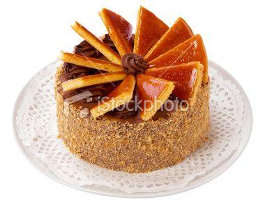 Hungarian Dobos torte - cake Royalty Free Stock Photo