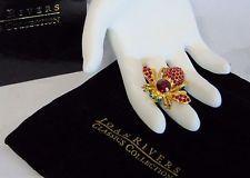 Новые Джоан Риверс кристалл красный рубин гранат камень пчела заколка брошь июля января