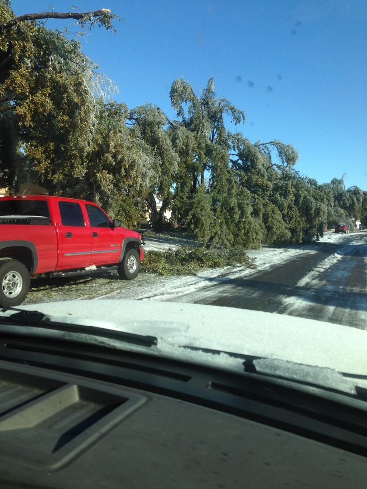 The ice storm in January 2015
