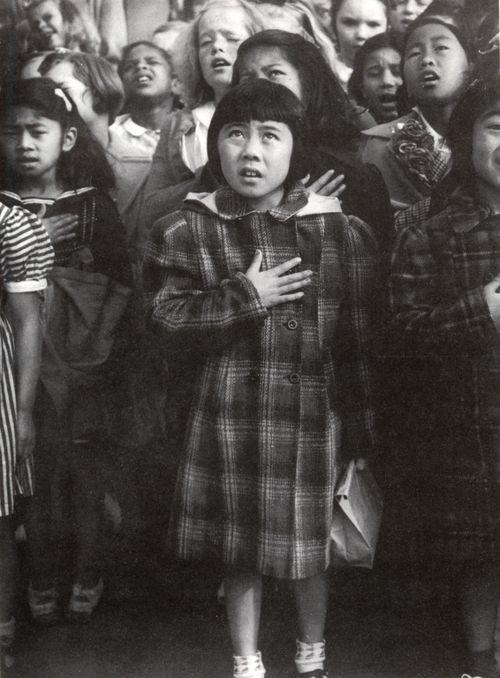 Pledge of Allegiance, San Francisco - Dorothea Lange, 1942