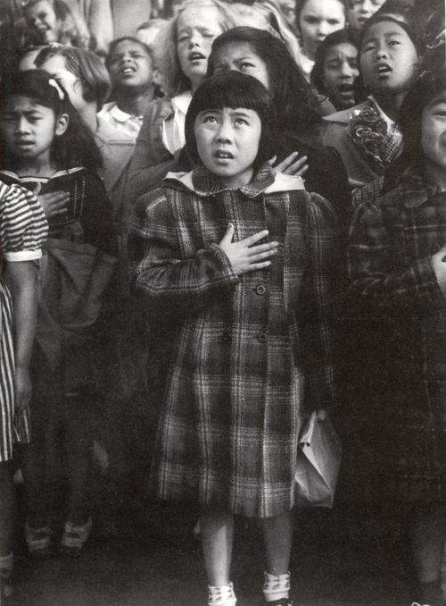 Pledge of Allegiance, San Francisco - Dorothea Lange, 1942