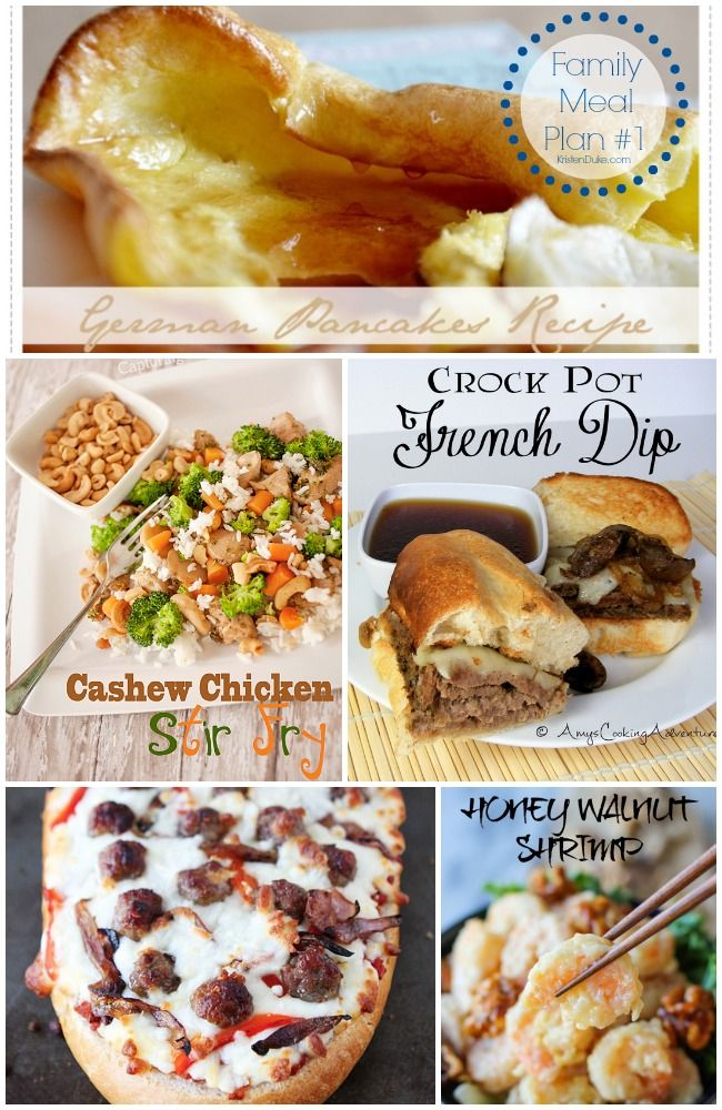 Family Meal Plan #1 - Recipes planned and made for my week of family dinners | KristenDuke.com