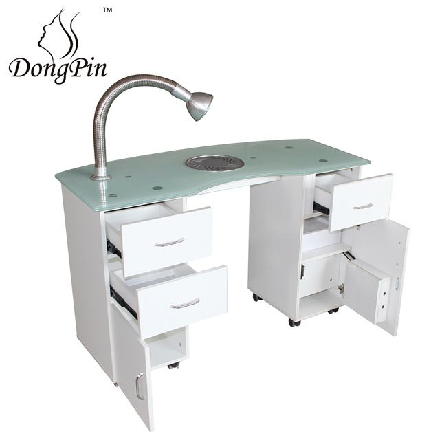 Source Nail Salon Furniture Glass Top White Manicure Table For Nail Shop On M Alibaba Com Modern Nail Salon Manicure Table Nail Salon