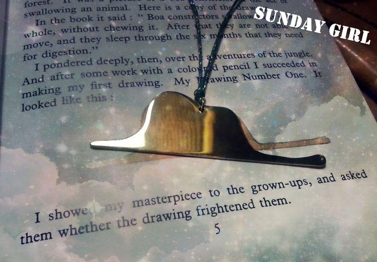 little prince brass handmade necklace