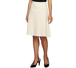 Styled by Joe Zee Ponte Knit Fit and Flare Skirt