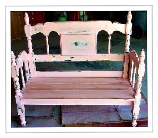 Make a new bench out of an old baby's crib