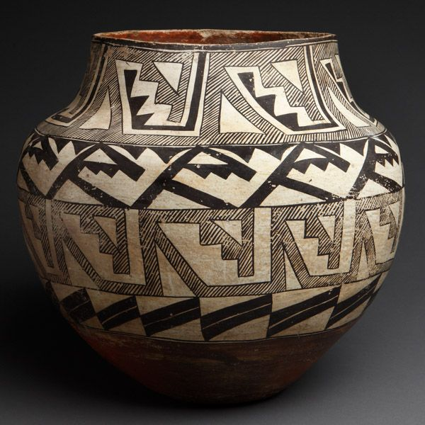 Major Acoma Polychrome Large Jar from Gallegos Collection Book. Rare pueblo pottery for sale on CuratorsEye.com