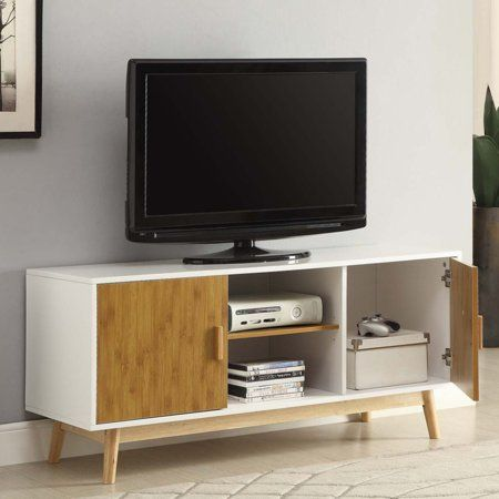 Convenience Concepts Oslo Tv Stand For Tvs Up To 47 25 Inch White