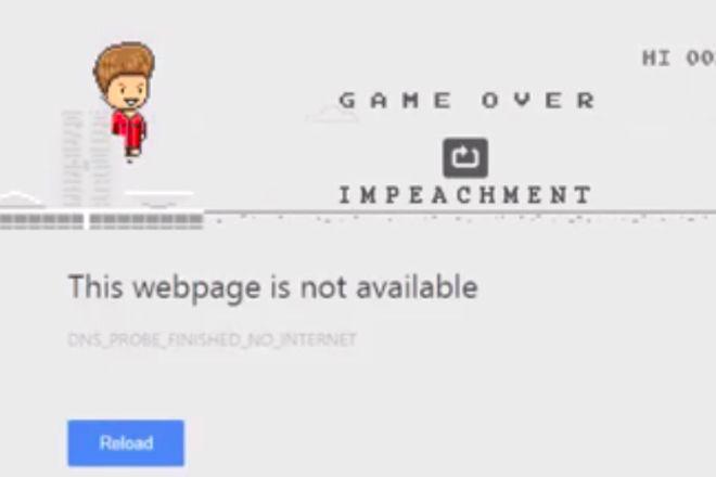 A versao brasileira do game do dinossauro offline - é o 'Dilma Offline' - Blue Bus