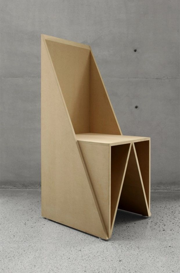 cardboard furniture design. triangular chair par sar stacion arquitectura cardboard furniture design