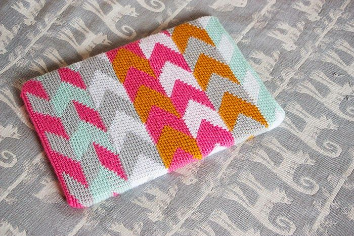 @ Sort of pink -  laptop cover - charted pattern for intarsia  design