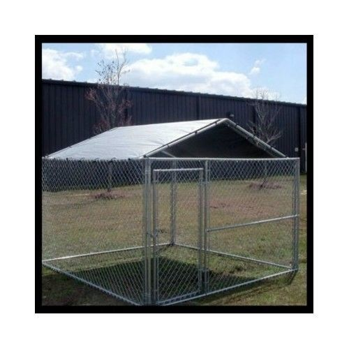 Dog-Kennel-Cover-Cage-Pet-Shade-Rain-Large-Enclosure-Screen-Roof-10x10-Outdoor                                                                                                                                                                                 More