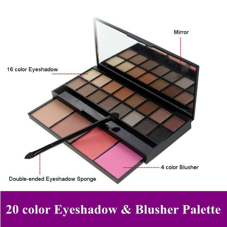 Profissão 20 cores de sombra Blush maquiagem cosméticos Palette quente sombra Blush cosméticos Set alishoppbrasil