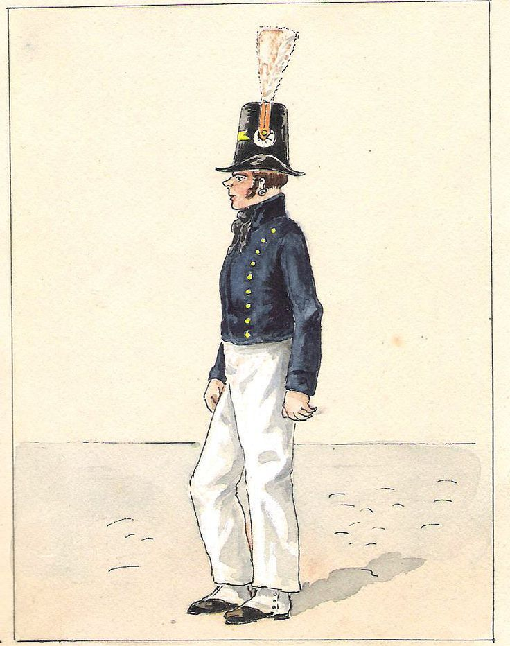 Marine Royale Matelot tenue à terre ( 1815-1825 )